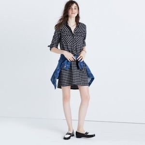 MADEWELL Daywalk Shirt Dress Hilldale Plaid {N53}